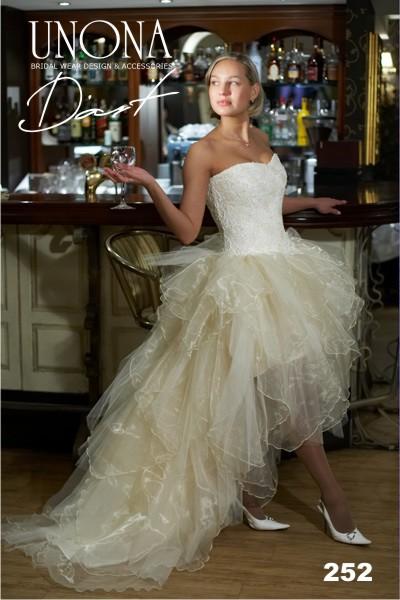 Изобр по > Короткие Свадебные Платья со Шлейфом 2013